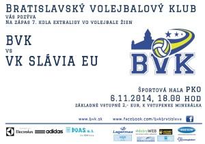 plagat BVK - Slávia UK  6. 11.2014