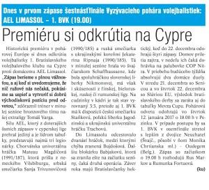 16.12.2016 - denník šport pred cyprom
